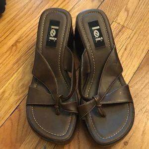 Lei Vtg boho 11 sandals chunky heels